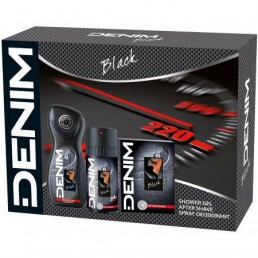 DENIM BLACK SET АФТЪРШЕЙВ 100ML + ДЕО СПРЕЙ 150ML + ДУШ ГЕЛ 250ML ЗА МЪЖЕ КОМПЛЕКТ