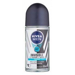 РОЛ ОН INVISIBLE FOR BLACK & WHITE FRESH MAN 50ML NIVEA