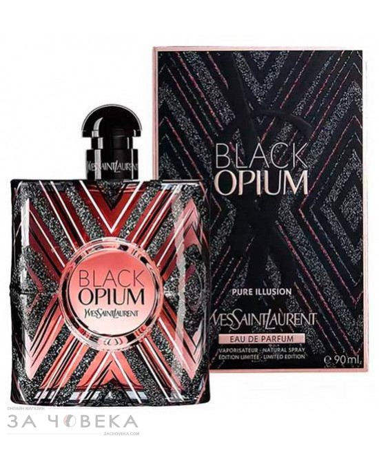 YVES SAINT LAURENT BLACK OPIUM PURE ILLUSION EDP 90ML ЗА ЖЕНИ