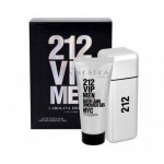 CAROLINA HERRERA 212 VIP MEN SET EDT 100ML + ДУШ ГЕЛ 100ML ЗА МЪЖЕ КОМПЛЕКТ