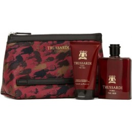 "Trussardi Uomo The Red комплект EDT 100ml + душ гел 100ml + несесер за мъже | Магазин - ""За Човека"""