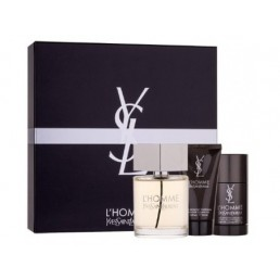 YVES SAINT LAURENT L'HOMME SET EDT 100ML + ДЕО СТИК 75ML + ДУШ ГЕЛ 50ML ЗА МЪЖЕ КОМПЛЕКТ