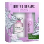 BENETTON UNITED DREAMS LOVE YOURSELF SET EDT 80ML ЗА ЖЕНИ + ДЕО СПРЕЙ 150ML ЗА ЖЕНИ КОМПЛЕКТ