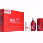 DIESEL ZERO PLUS MASCULINE SET EDT 75ML + ДЕО СТИК 75ML + EDT PLUS PLUS MASCULINE EDT 30ML ЗА МЪЖЕ КОМПЛЕКТ