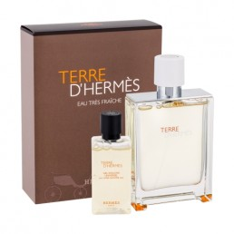 HERMES TERRE D'HERMES EAU TRES FRAICHE SET EDT 75ML + ДУШ ГЕЛ 40ML ЗА МЪЖЕ КОМПЛЕКТ
