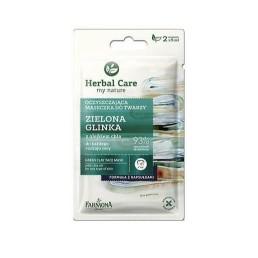 "Маска за лице почистваща Herbal Care зелена глина 10ml Farmona | Магазин - ""За Човека"""